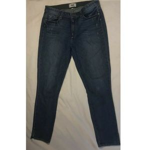 Paige Hoxton Ankle Peg Jeans Size 30 Medium Wash